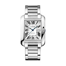 Cartier Tank Anglaise ladies' stainless steel bracelet watch - Product number 1601121
