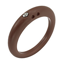 Due Punti diamond brown silicone ring size small - Product number 1601148