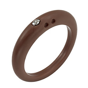 Due Punti diamond brown silicone ring size large - Product number 1602632