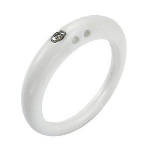 Due Punti diamond white silicone ring size small - Product number 1602675