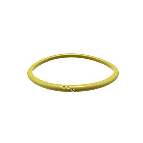 Due Punti diamond lemon yellow silicone bangle size medium - Product number 1602748