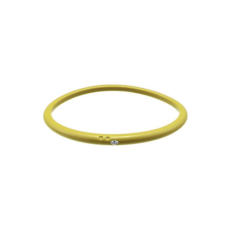 Due Punti diamond lemon yellow silicone bangle size large - Product number 1602756