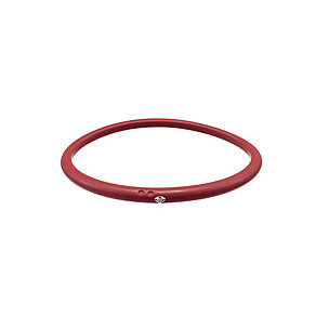 Due Punti diamond ruby red bangle size medium - Product number 1602780