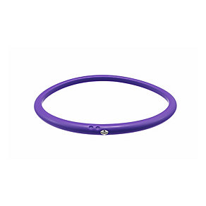 Due Punti diamond lilac silicone bangle size medium - Product number 1602861