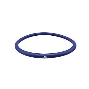 Due Punti diamond dark blue silicone bangle size medium - Product number 1602942