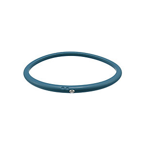 Due Punti diamond teal silicone bangle size medium - Product number 1603256