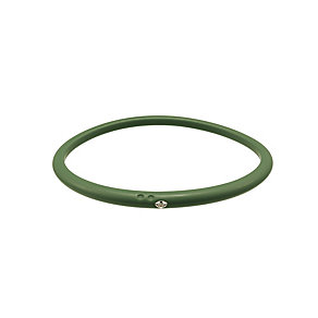 Due Punti diamond green silicone bangle size medium - Product number 1603337