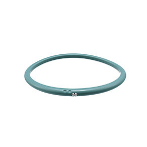 Due Punti diamond apple green silicone bangle size large - Product number 1603469