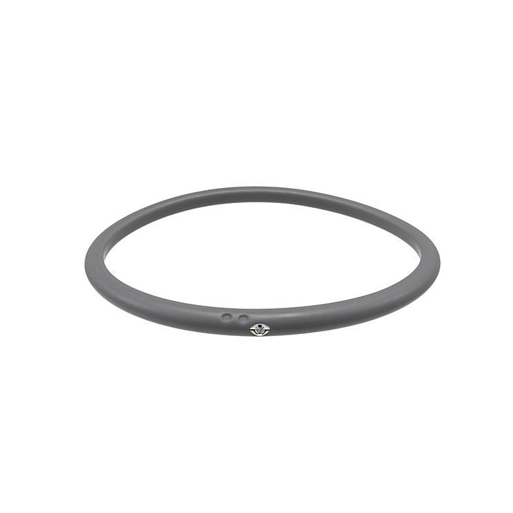 Due Punti diamond grey silicone bangle size medium - Product number 1603477