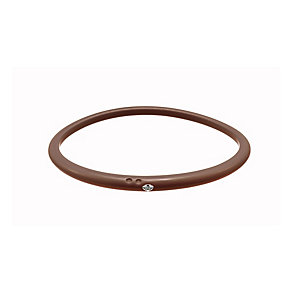 Due Punti diamond mahogany silicone bangle size large - Product number 1603507