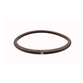 Due Punti diamond brown silicone bangle size medium - Product number 1603515