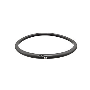 Due Punti diamond black silicone bangle size medium - Product number 1603531