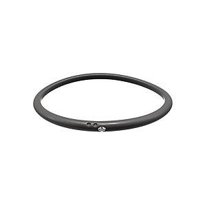 Due Punti diamond black silicone bangle size large - Product number 1603558