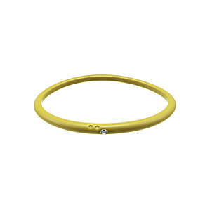 Due Punti diamond lemon yellow silicone bangle size small - Product number 1603590