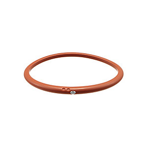 Due Punti diamond orange silicone bangle size small - Product number 1603604