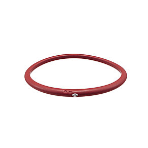 Due Punti diamond ruby red bangle size small - Product number 1603655