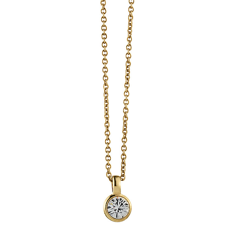 Dyrberg Kern Gold-Plated Solitaire Pendant - Product number 1604376
