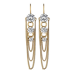 Dyrberg Kern Gold-Plated Multi Chain Drop Earrings - Product number 1604600