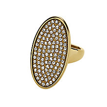 Dyrberg Kern Oval Crystal Ring M-L - Product number 1604651