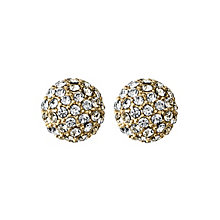 Dyrberg Kern Gold-Plated Crystal Ball Stud Earrings - Product number 1604775