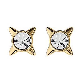 Dyrberg Kern Gold-Plated Star Crystal Stud Earrings - Product number 1604791