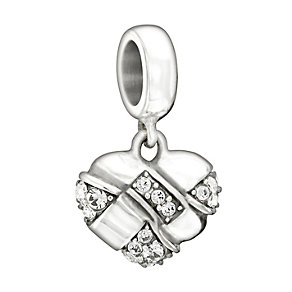 Chamilia sterling silver Swarovski elements woven heart bead - Product number 1605054