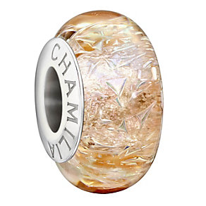 Chamilia sterling silver peach Murano glass bead - Product number 1605135