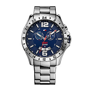 Tommy Hilfiger GMT Men's Stainless Steel Bracelet Watch - Product number 1606131