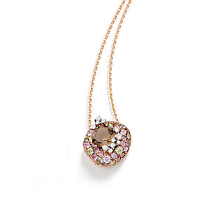 Brumani 18ct rose gold diamond, sapphire & quartz pendant - Product number 1609157