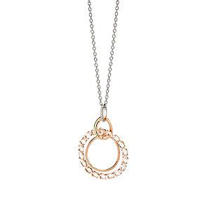Brumani 18ct rose & white gold diamond & quartz pendant - Product number 1609165