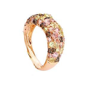 Brumani 18ct rose gold diamond & multi stone ring - Product number 1611674