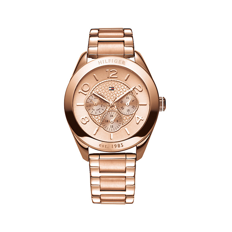 Tommy Hilfiger ladies' rose gold-plated bracelet watch - Product number 1619217