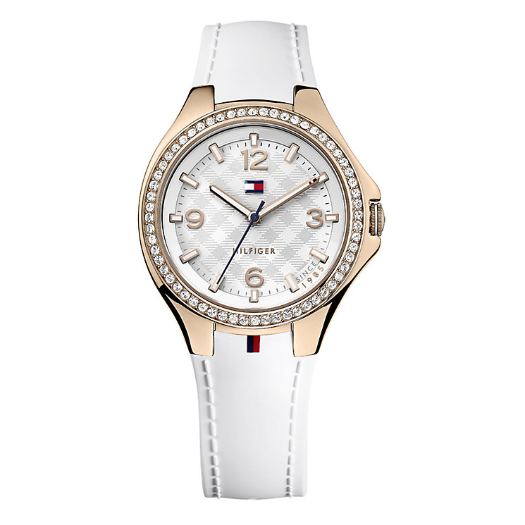 Tommy Hilfiger Tyler ladies' rose-gold plated strap watch - Product number 1619764