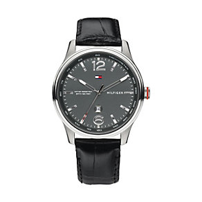 Tommy Hilfiger Andre men's stainless steel black strap watch - Product number 1619829