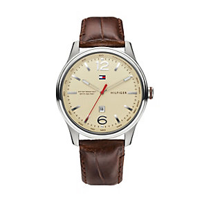 Tommy Hilfiger Andre men's stainless steel brown strap watch - Product number 1619837