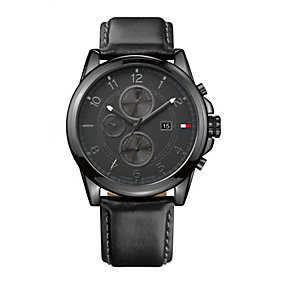 Tommy Hilfiger Bayside men's black ion-plated strap watch - Product number 1619896