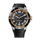 Tommy Hilfiger men's ion-plated black rubber strap watch - Product number 1619926