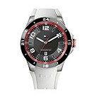 Tommy Hilfiger men's ion-plated white rubber strap watch - Product number 1619934