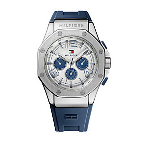Tommy Hilfiger Eton men's stainless steel blue strap watch - Product number 1619950