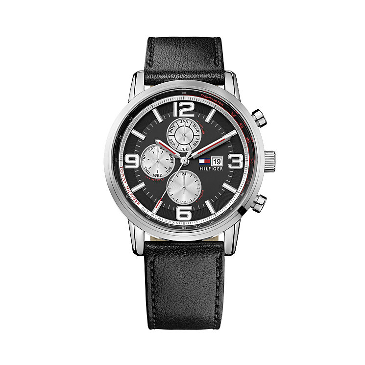 Tommy Hilfiger Gabe men's stainless steel black strap watch - Product number 1619969
