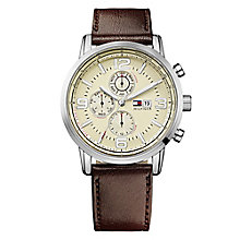 Tommy Hilfiger Gabe Men's Stainless Steel Chrome Strap Watch - Product number 1619985