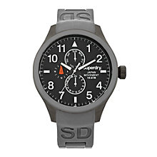Superdry Scuba Multi Dial Men's Grey Silicone Strap Watch - Product number 1620258