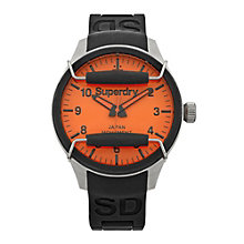 Superdry Scuba Pop Men's Black Silicone Strap Watch - Product number 1620290