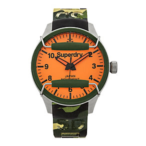 Superdry Scuba Camo Men's Camouflage Silicone Strap Watch - Product number 1620371