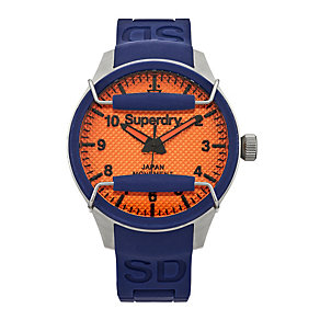 Superdry Scuba Rescue Men's Blue Silicone Strap Watch - Product number 1620398