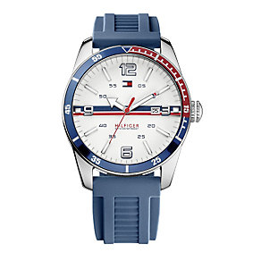Tommy Hilfiger Noah men's stainless steel blue strap watch - Product number 1620584