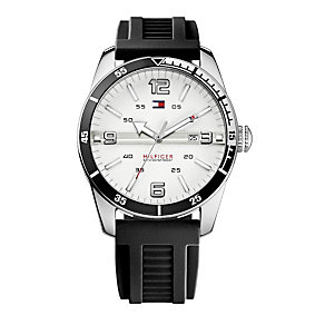 Tommy Hilfiger Noah men's stainless steel black strap watch - Product number 1620592