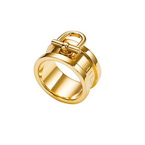 Tommy Hilfiger Mariner gold-plated bit ring size N - Product number 1621297