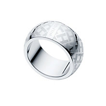 Tommy Hilfiger stainless steel H pattern ring - Product number 1621432