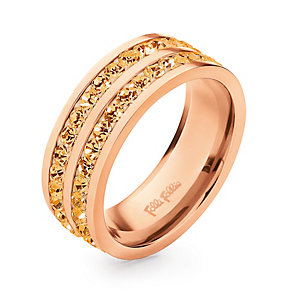 Folli Follie Classy rose gold-plated crystal ring size L 1/2 - Product number 1623567